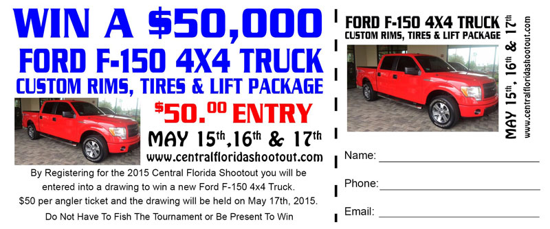 Grand Prize Raffle Ticket - 2017 Central Florida Shootout