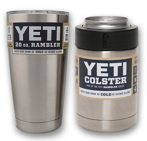 Yeti Colster and Yeti Rambler